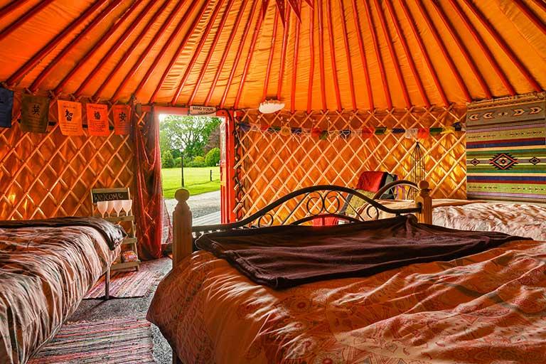 Interior of Yurt Cobain Yurt