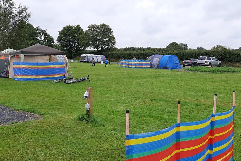 Robins Nest Camping Pitches